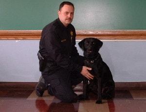 Cory & Brian 1st dog